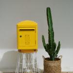 Boîte aux lettres jaune 1945